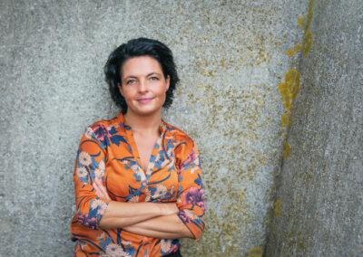Helle Brunse, byrådsmedlem i Nordfyns kommune, fotograferet på Bogense havn, Fyn